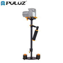 PULUZ 38.5-61cm Carbon Fiber Handheld Camera Stabilizer for DSLR Camcorder Video DV GoPro Camera Stand Holder Glidecam Steadicam puluz for steadycam u grip c shaped handgrip camera stabilizer w h tripod head phone clamp adapter for steadicam dslr stabilizer
