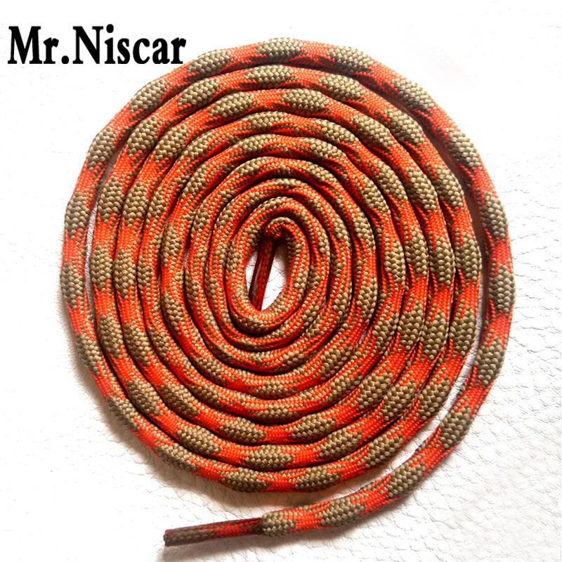 Mr.Niscar 1 Pair Round Sneaker Shoelaces Gray Orange Athletic Sports Shoe Laces Martin Boots Bootlace Shoestrings Rope 15 Colors