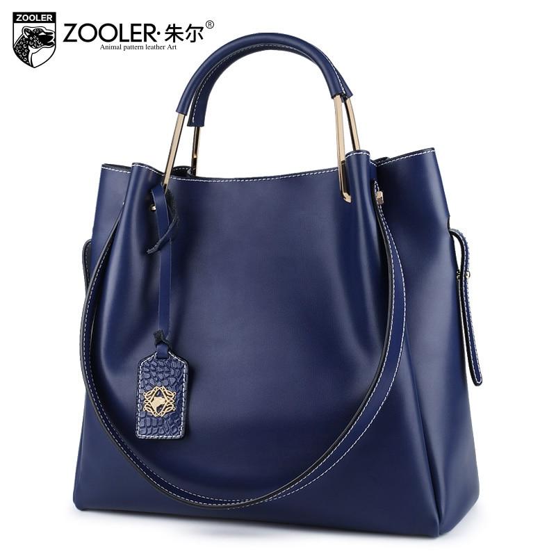 Luxury leather bag composite bag ZOOLER 2018 genuine leather bag functional  handbag shoulder bag solid bolsa feminina #6985 p p x split leather composite bag
