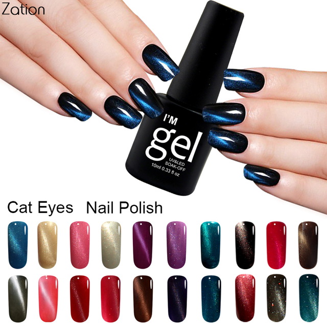 Zation Magnetic Nail Polish Color Change Nail Varnish Colorful ...