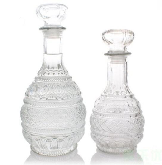 1PC 500ml 1000ml Crystal Whiskey Wine Shot Glass Bottle With Cap Stopper Drinking Bar Decanter JR1086