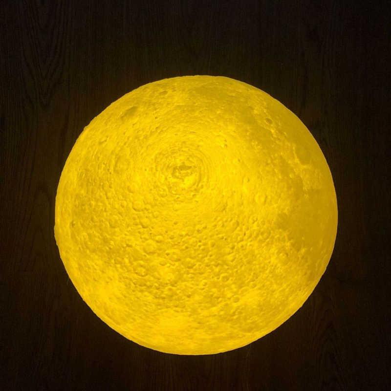 Прямая поставка 3D печать Лунная лампа перезаряжаемый светодиодный ночник