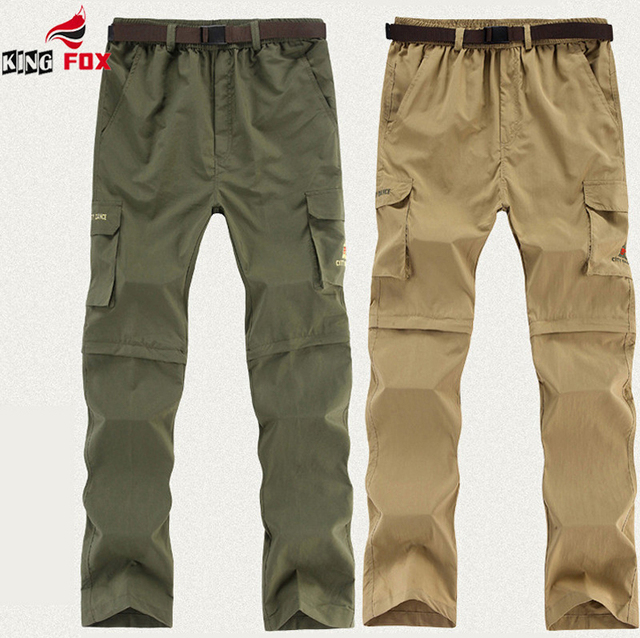 New Arrival Summer&Autumn men`s Thin Quick Dry UV Resistant Removable pants waterproof breathable wear casual Trousers size L~6X