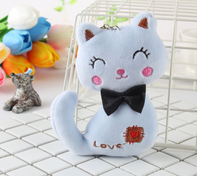 Animal Stuffed Kitty Cat Key chain TOY 3