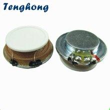 Tenghong 2 قطعة 27 مللي متر الرنين المتكلم 4 أوم 3 واط الصوت المحمولة شقة الاهتزاز مكبرات الصوت ل تدليك الدم ستيريو مكبر الصوت DIY بها بنفسك