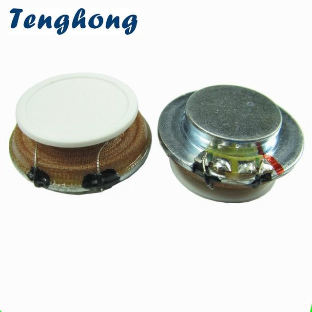 Tenghong 2pcs 27MM Resonance Speaker 4 Ohm 3W Audio Portable Flat Vibration Speakers For Blood Massage Stereo Loudspeaker DIY