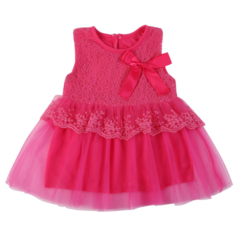 Dziewczynek Sukienki Dzieci Ubrania Bawełna Dzieci Bow Lace Ball - Odzież dla niemowląt - Zdjęcie 6