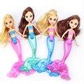 Новое Поступление 4 ШТ. Оригинальный Плавание Русалка Куклы Мода Русалка Кукла Модель Игрушки Принцесса Bonecas Развивающие Игрушки Для Девочек Подарки
