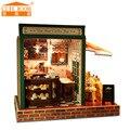 Handmade Doll house furniture miniatura diy doll houses miniature dollhouse wooden toys for children birthday gift Z005