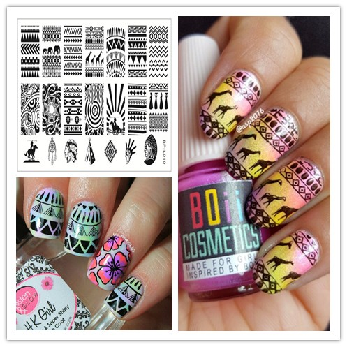 1 Pc Cool Aztec Tribal Pattern Nail Art Stamp Template Image Plate