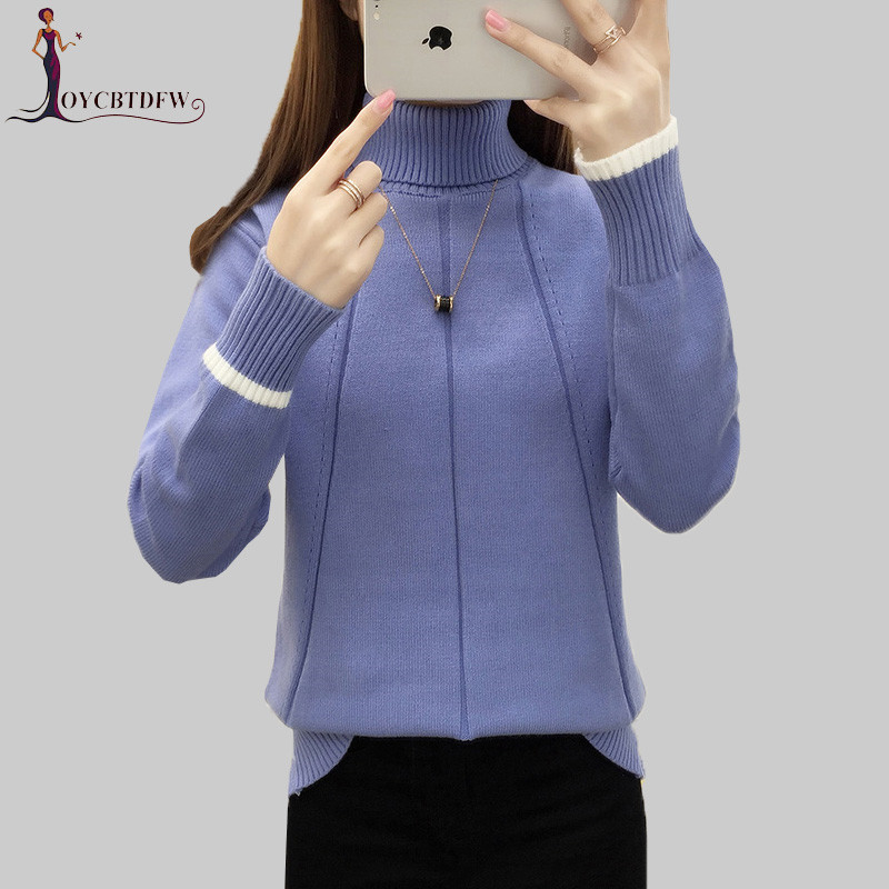 Autumn Winter High Collar Sweater Women Pullover 2018 New Warm Sweater Pullover Fashion Slim Winter Women Turtleneck Sweater 635 Price $51.27