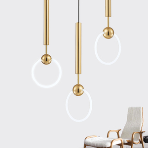 Image 2 - New Quality Simple Pendant light Modern Fashion White Lamps For Dining Room Restaurant Bedroom Living Room Office Bar Round