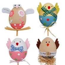 Joylong Plastic Easter Eggs Craft Children Cartoon Kids Craft Creative Hand Painted Egg Child Toy Crafts DIY For Kid Handmade