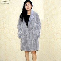 Linhaoshengyue fashion women winter fur coat Real mink fur coat