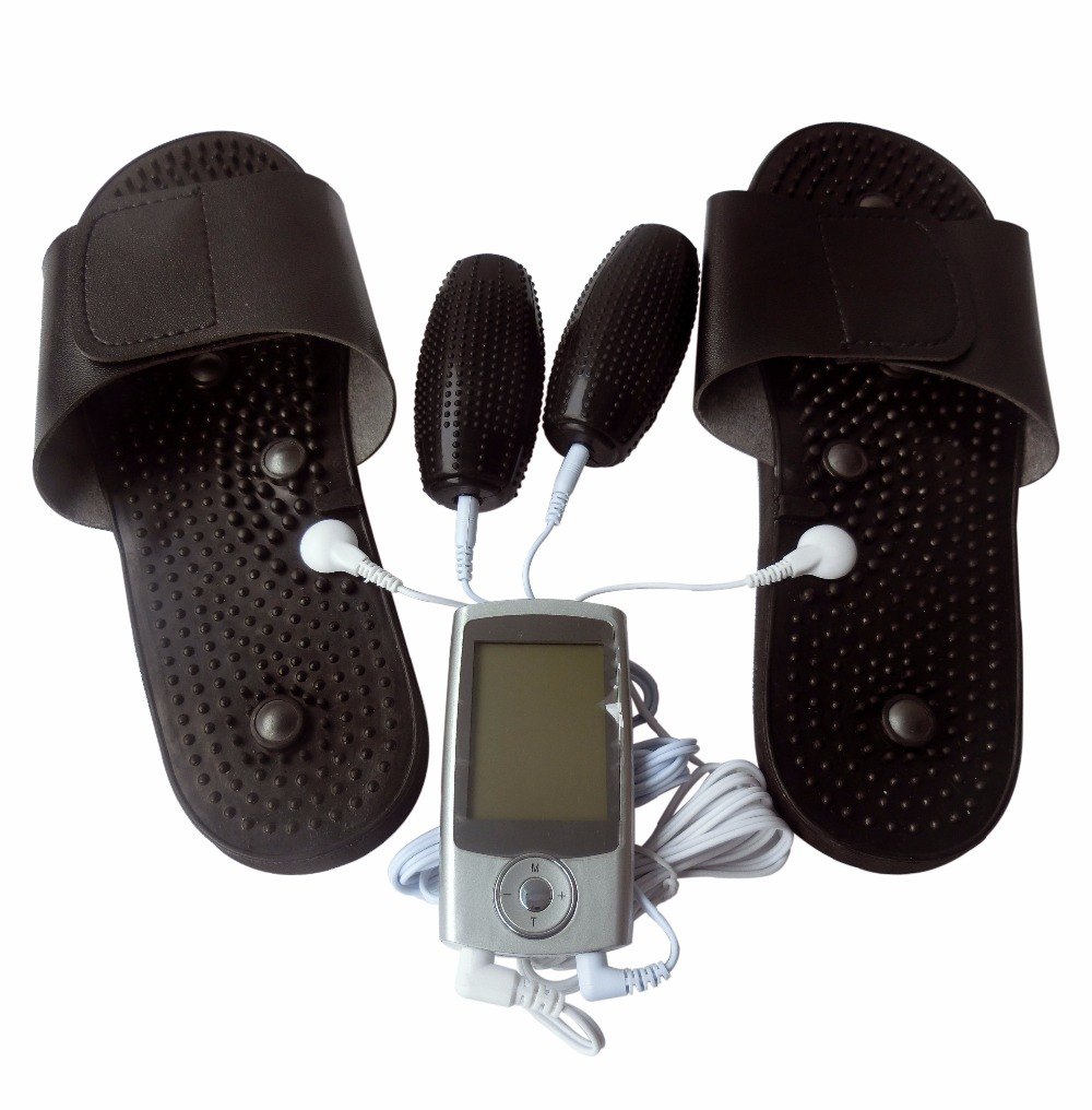 Tens Body Health Care Digital Therapy Massager Machine Muscle Relax Device With Acupuncture Massage Roll Physiotherapy Slipper health care electric acupuncture full body massager digital therapy machine for back neck foot amy leg slimming muscle relax