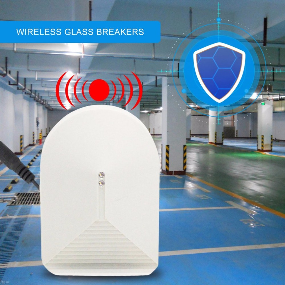 LESHP Wireless Glass Break Sensor Detector 315MHz For PSTN GSM Home Security Alarm System High Sensitivity Alarm Detector wireless vibration break breakage glass sensor detector 433mhz for alarm system