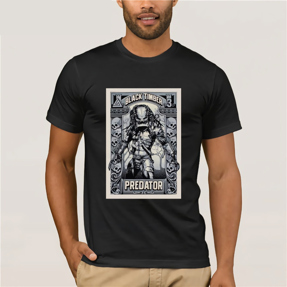 Printed Tee Shirt For Mens 2019 Alien Classic Movie Vintage Predator Best T Shirt For Men Hop T-Shirt Online Store