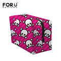 2016 Famous Brand Cosmetic Bag for Women Large Capacity Wash Bag Skull Printed Travel Storage Cosmetic Sorting Bags Makeup Cases