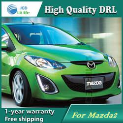 Бесплатная доставка! 12 В 6000 К СИД DRL дневные Бег свет чехол для Mazda 2 Mazda2 2012-2015 туман рамка светильника света тумана автомобилей Стайлинг