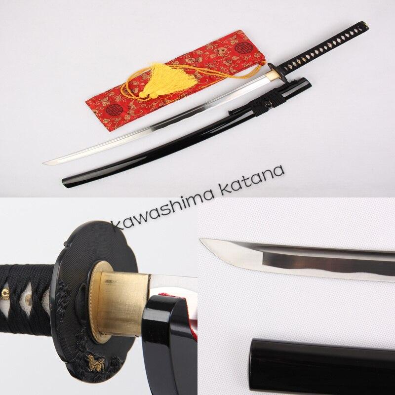 Épée de samouraï japonais en acier inoxydable entièrement faite à la main Katana