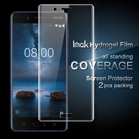 SFor Nokia 8 Screen Protector 2PCS IMAK Brand 3D Full Cover Soft Hydrogel Screen Protector For