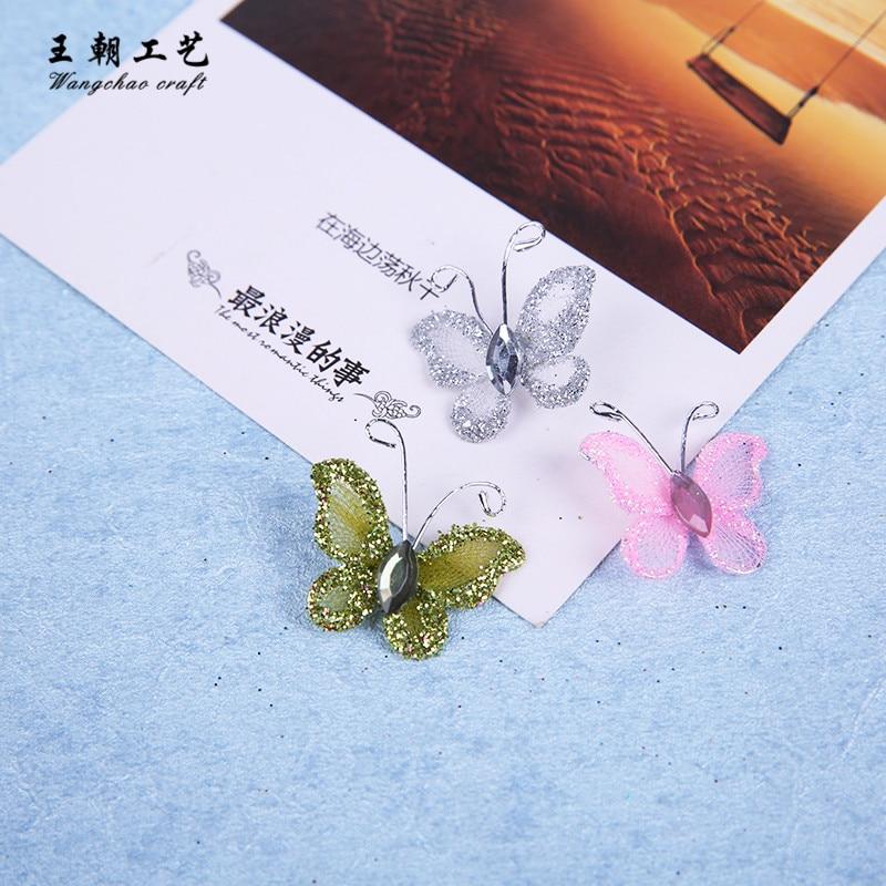 12pcs/lot 3cm small nylon butterfly wedding birthday Party ...
