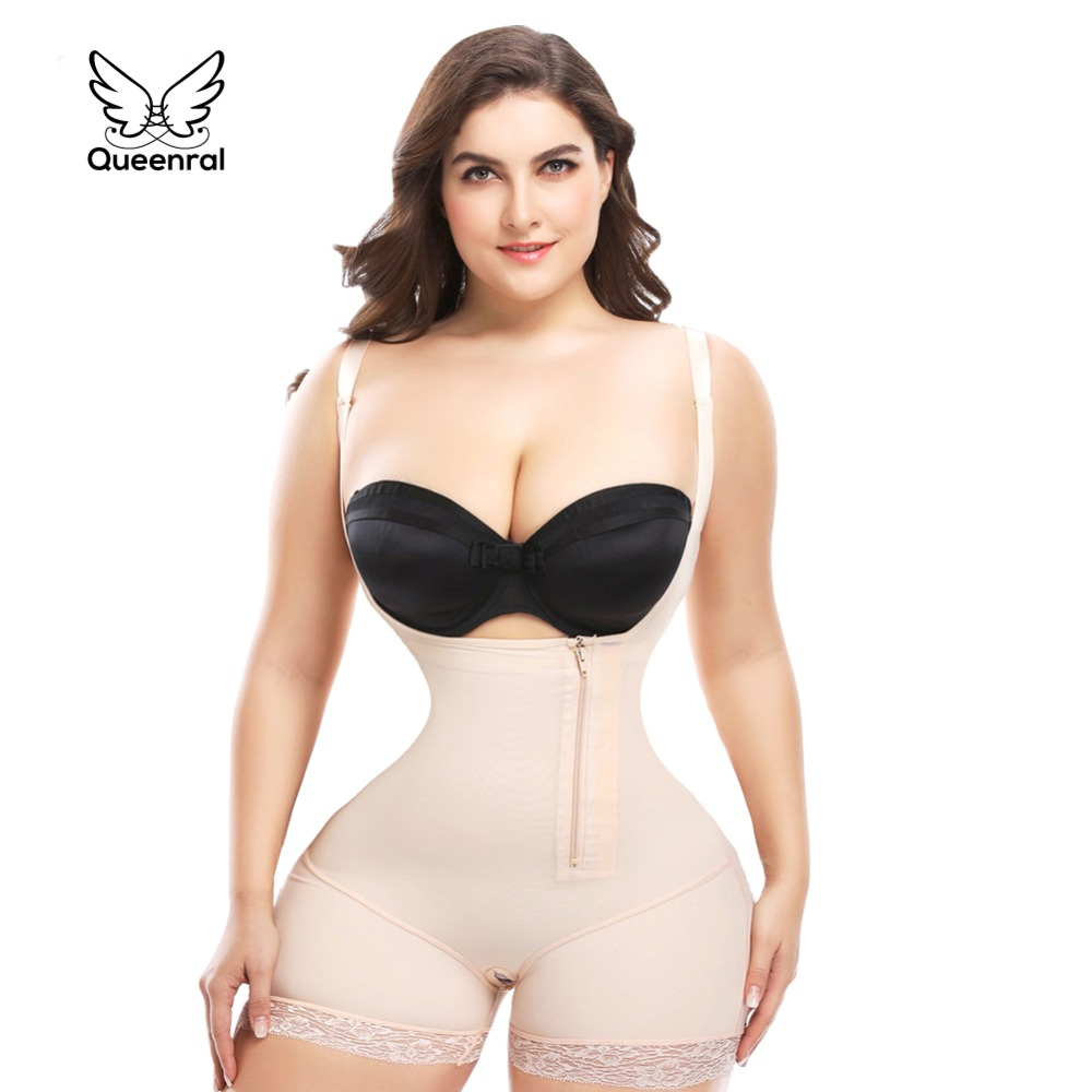 Queenral Waist trainer Shapewear Corset Slimming reductora butt lifter modeling strap