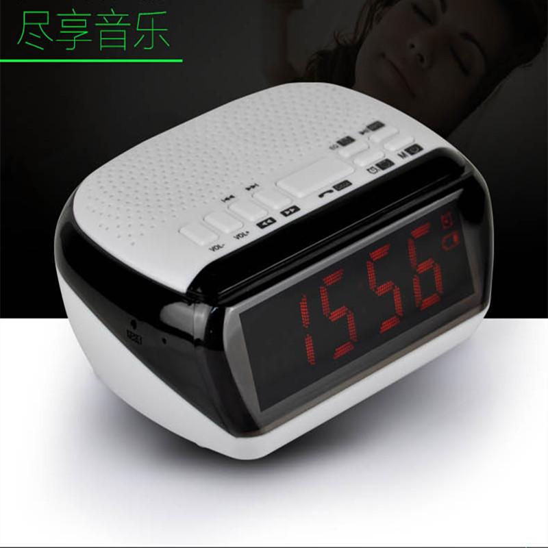 Mini Portable Dual Alarm Clock Bluetooth Stereo Speaker LCD Digital FM Radio Bluetooth Wireless Speaker Support TF For Computer (21)