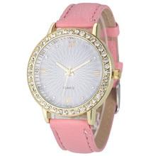 Fashion beautiful candy color watch  Women Diamond Analog Leather Quartz Wrist Watch Watches  Dropshipping Free Shipping M27