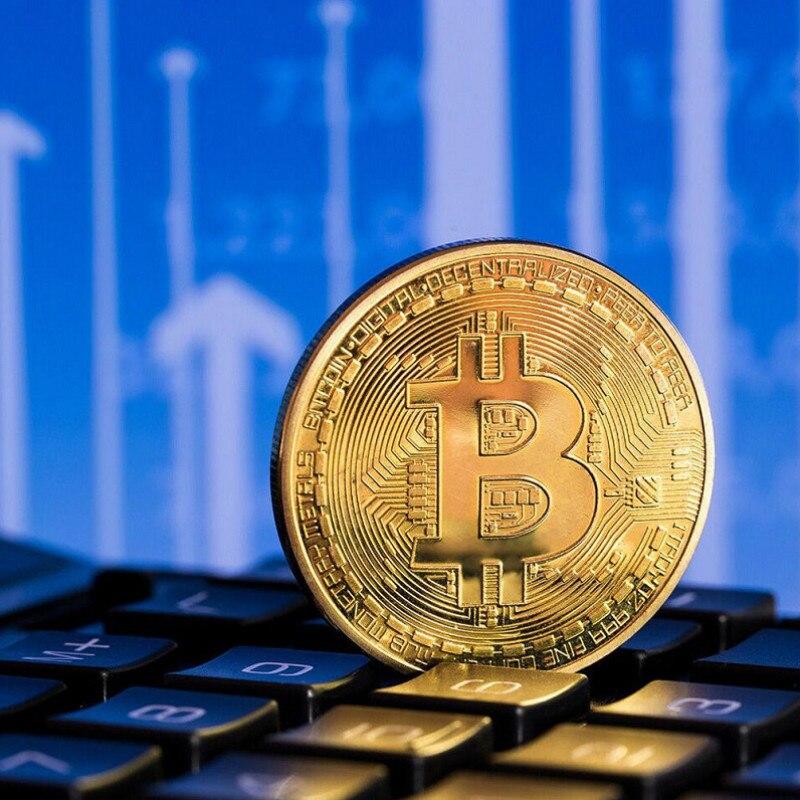 Ouro antigo bitcoin collectible arte comemorativa moeda collectible presente sorte banhado a ouro moeda bit btc metal imitation40x1.5mm