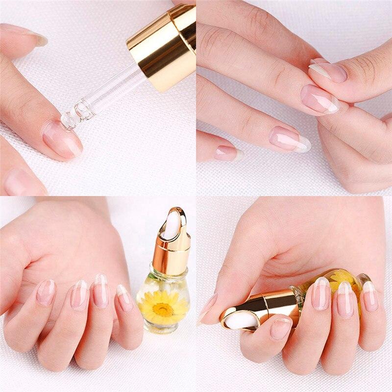 1 PCS Nail nutrition oil Mix Taste Dried Flowers Cuticle Oil Pen ...