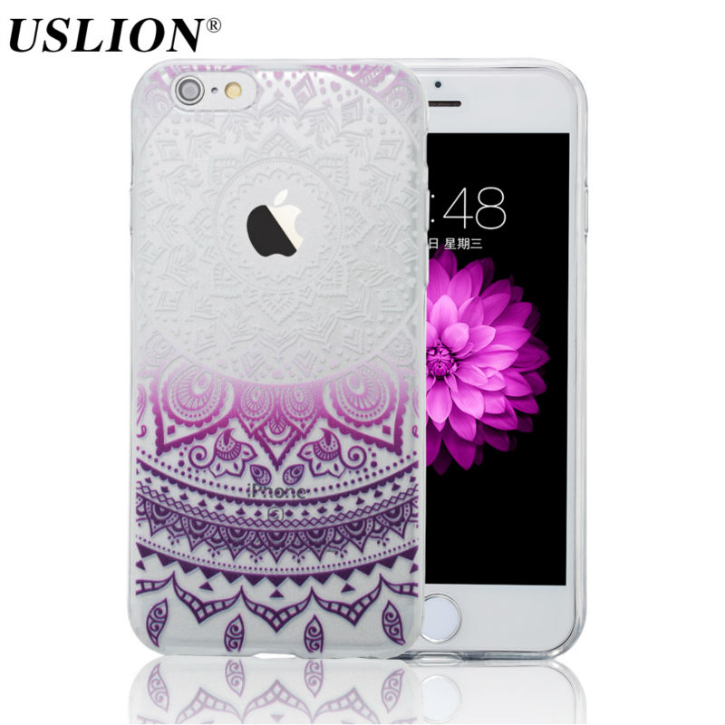 Phone Case For iPhone 7 6 6s 5 5s SE Plus Luxury Retro Mandala Flower Soft TPU Cover Back Cases Capa Coque For iPhone7 Plus