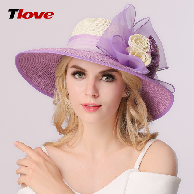 2016 New Edition Straw Hats Summer Female Flowers Show Thin Sun Hat Is Prevented Bask In The Big Beach Hat Hat B-3171