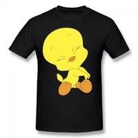 Cheap T Shirt Design Men S Funny Crew Neck Short Sleeve Tweety Bird Summer Basic Casual