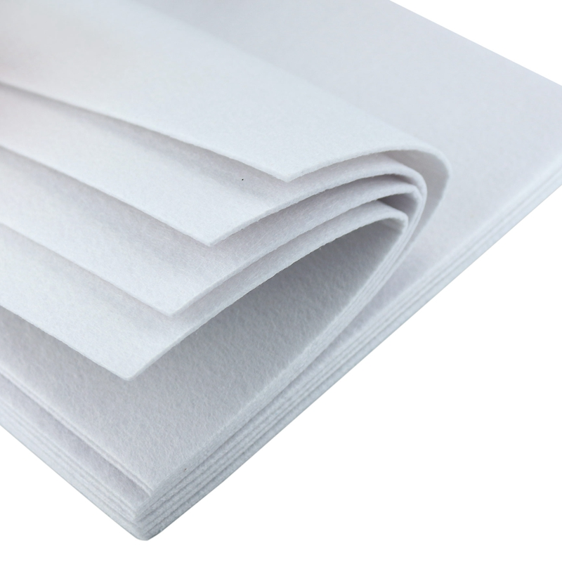 3mm Thick Felt 30X30CM Solid White Color Polyester Nonwoven Pure Color Fabric For DIY Craft Home Decoration Supplies 1 Sheet