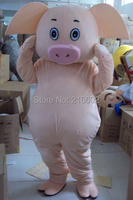 Professional Lovely Pig Mascot Costume Fancy Dress Cartoon Suit Adult SIZE