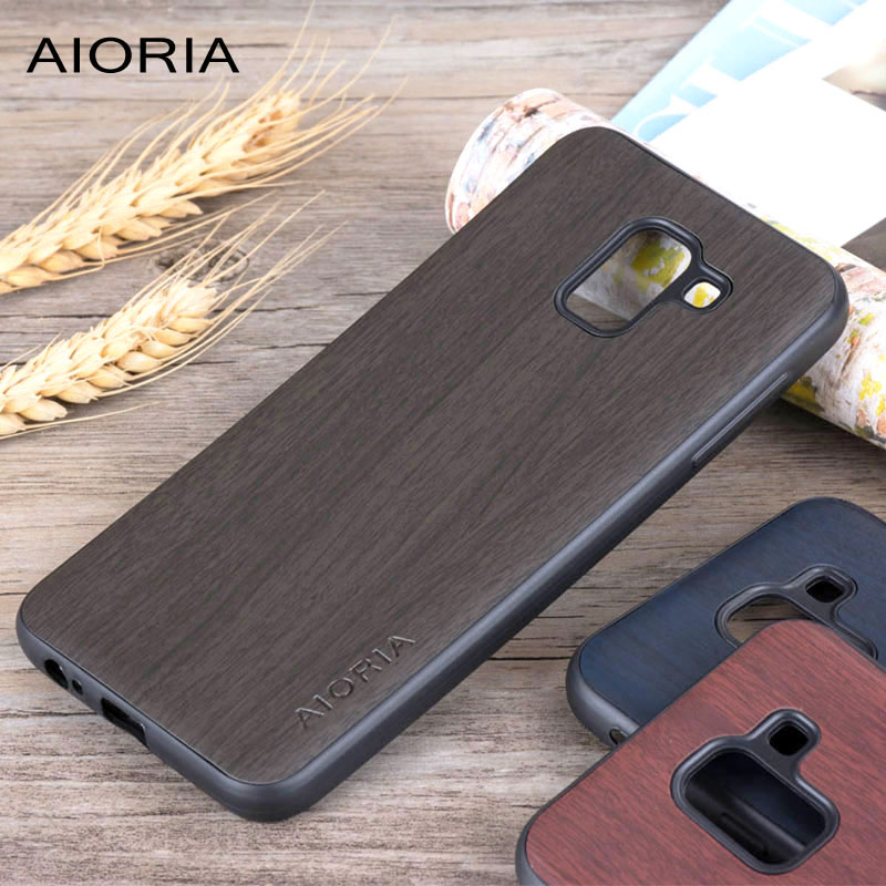 Wooden design case for Samsung Galaxy J6 j600 2018 New model fundas coque covers for samsung galaxy j6 wood