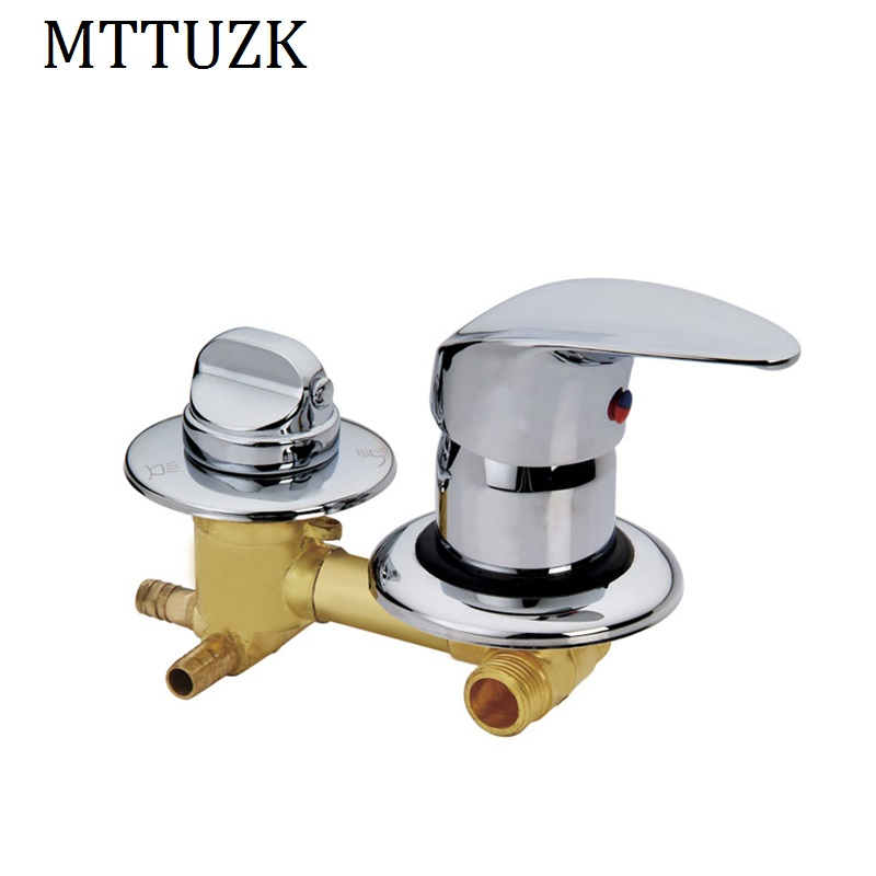 MTTUZK Concealed 2 3 4 5 Ways water outlet brass shower tap screw or intubation Copper