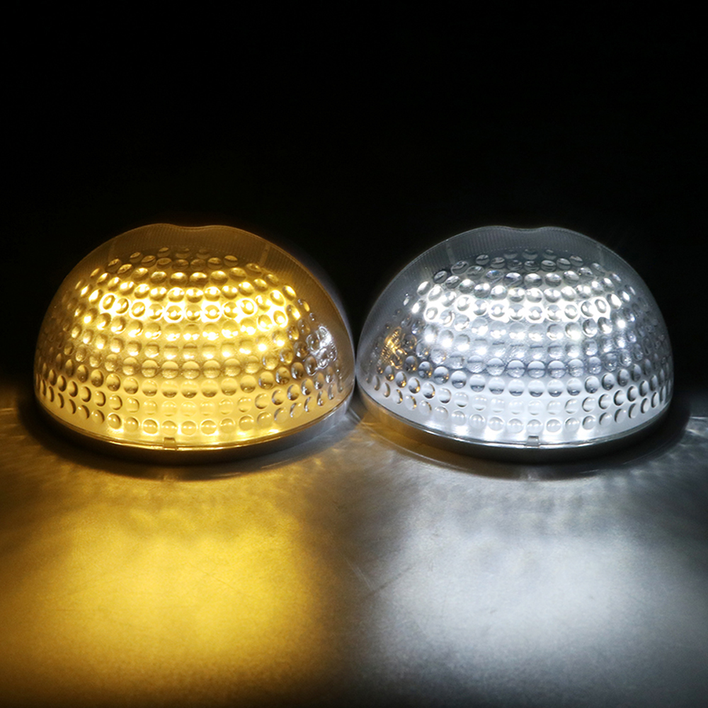 6 LEDs Fence Security Lamp Solar Wall Light Patio Decor Water ...