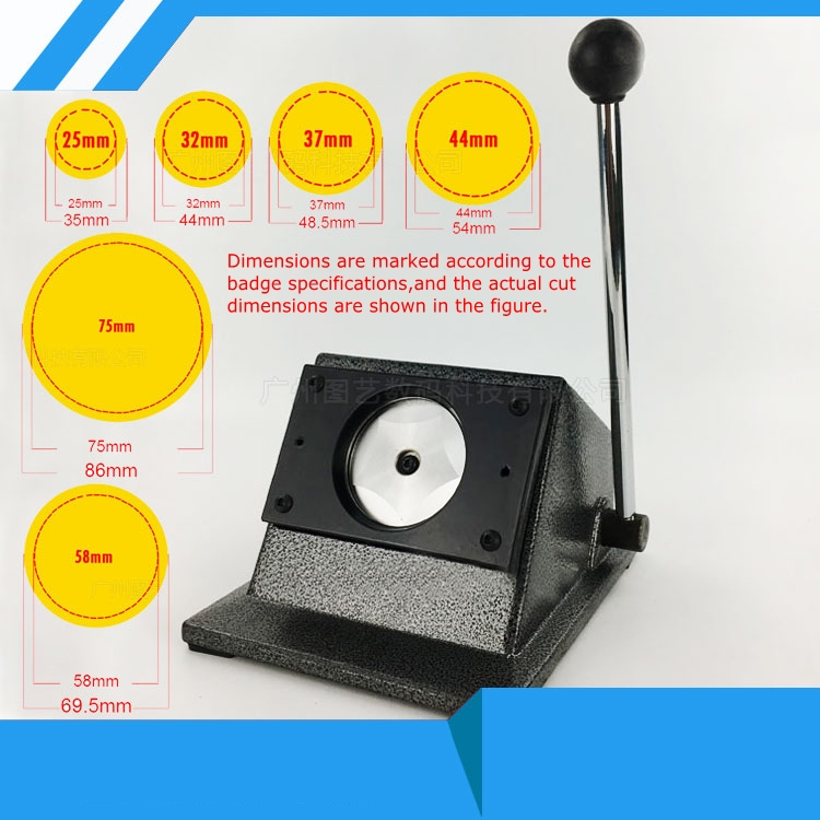 PVC Card Cutter Badge Machine Circle Cutter Badge Makers Round Cutter Circular Knife Cutter