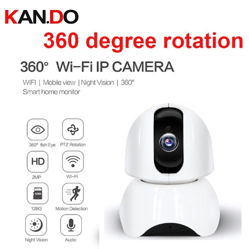 32-128 ГБ 360 глаза 1080 P 2.0MP PTZ обнаружения движения Wi-Fi камера PIR поддержка ip-камера радионяня камеры видеонаблюдения