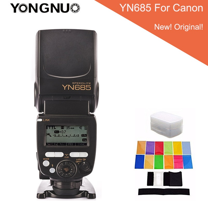YONGNUO YN685 YN-685 Wireless HSS TTL Speedlite Flash Built-in Receiver Worked with YN622C YN622II-C YN622C-TX For Canon + gifts yongnuo yn685 wireless 2 4g hss ttl ittl speedlite flash for canon nikon support yn560iv yn560 tx rf605 rf603 ii yn685c yn685n
