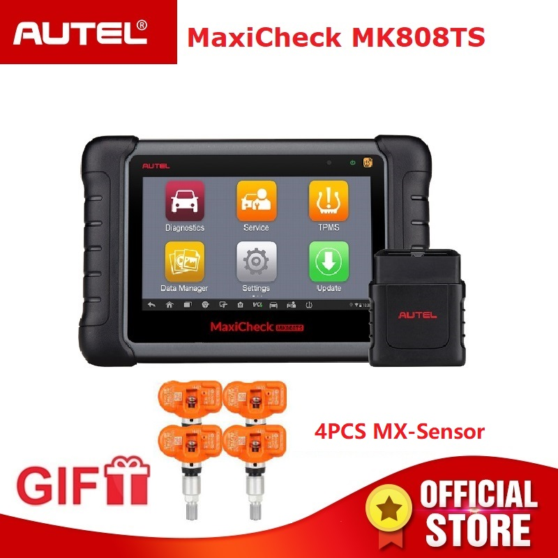 Autel MaxiCheck MK808TS OBD2 TPMS Strumento di Diagnostica OBD 2 Scanner Automotive OBDII Lettore di Codice di Programmazione Chiave MX Sensore di IMMO DPF
