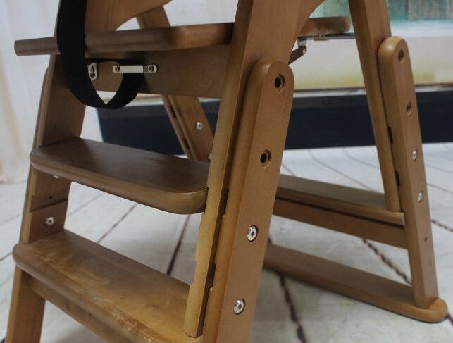 Folding Wooden Baby Highchair High Chair Reclining Booster Seat ...