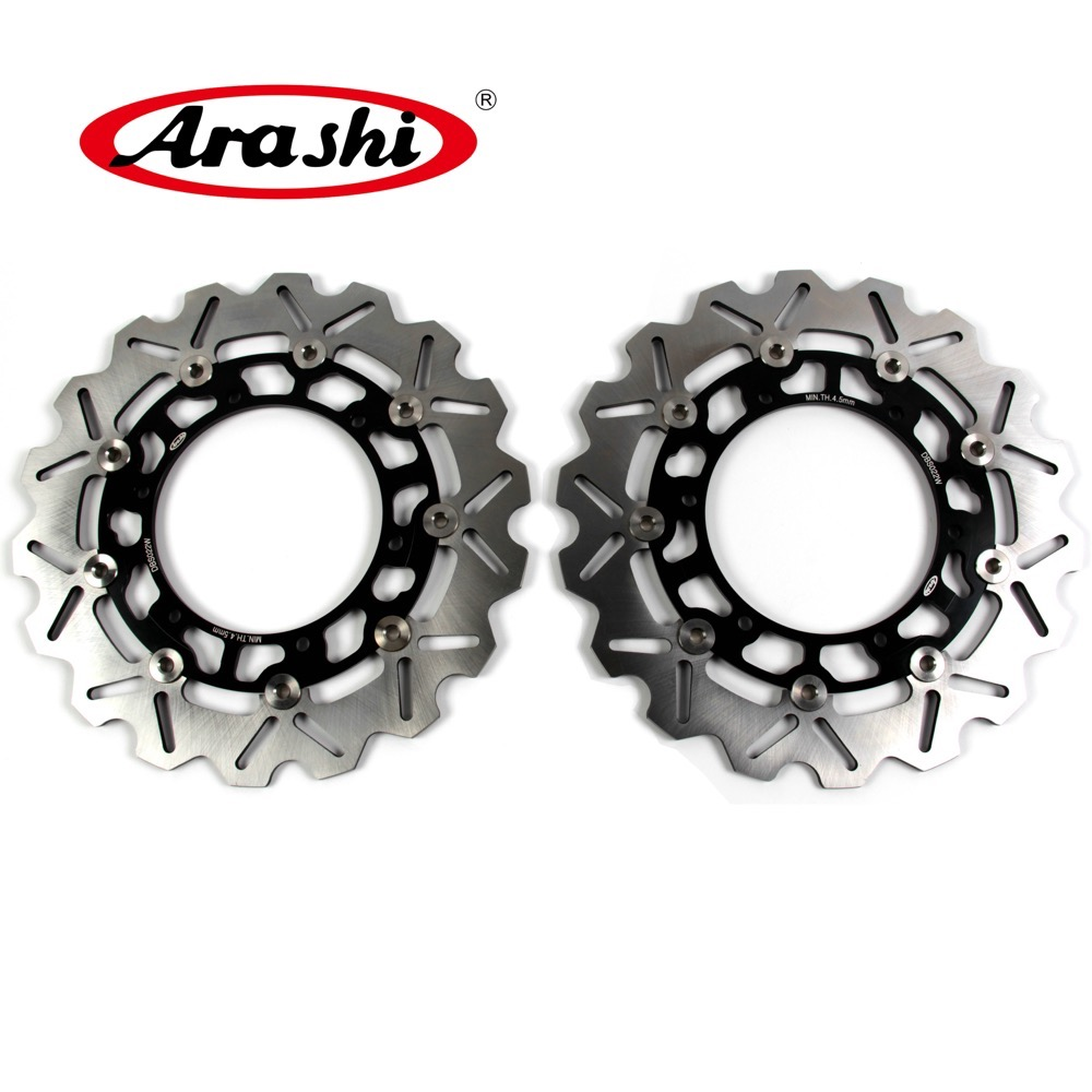 Arashi 2PCS For YAMAHA FJR 1300 FJR1300 2001 2002 2003 2004 CNC Front Brake Disc Rotors Brake XJR BT BULLDOG XJN 600 R1 R6 TDM arashi 1 pcs for ducati monster 600 1994 2002 cnc front brake disc rotors 1994 1995 1996 1997 1998 1999 2000 2001 2002 sport 750