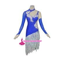 Latin Competition Dance Skirt Lady New Style Women Tango Samba Rumba Dancing Costume High Quality Custom Made Tassel Latin Dress