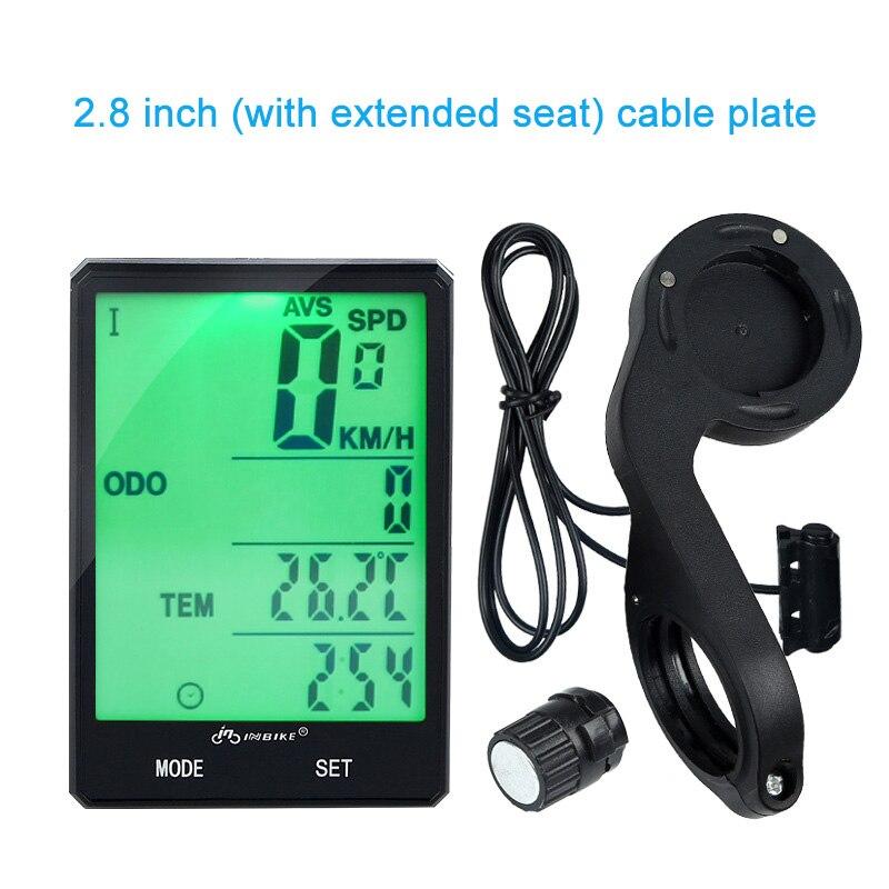 2.8 Large Screen Bicycle Computer Wireless Bike Computer Rainproof Speedometer Odometer Stopwatch ALS88