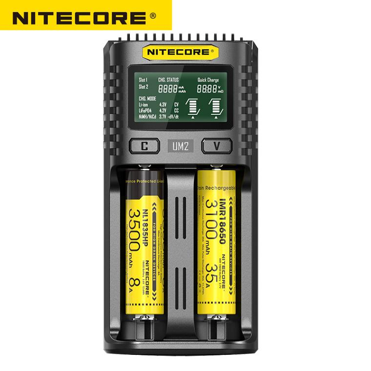 Image 3 - Nitecore UM2 USB Dual SlOT QC Charger Intelligent Circuitry Global Insurance li ion AA 18650 20700 26500 26650 Charger-in Portable Lighting Accessories from Lights & Lighting