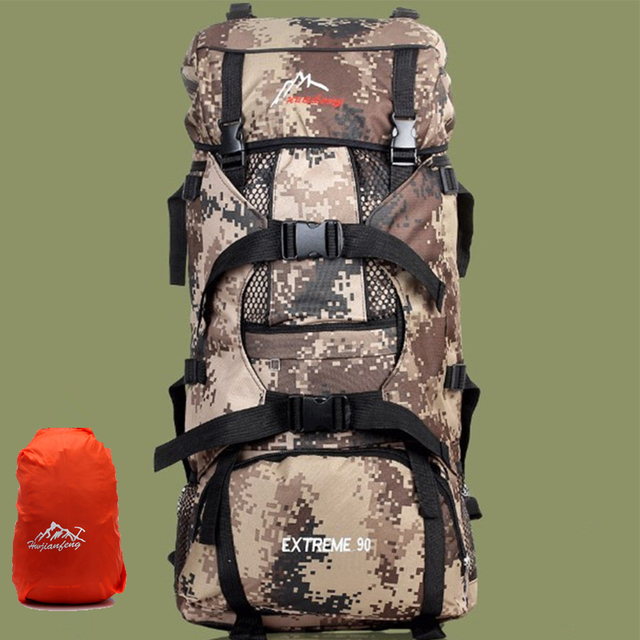 c858469a8342 90L Large Capacity Outdoor Backpacks Multipurpose Military Camping Hiking  Bag Big Travel Mountaineering Climbing Package