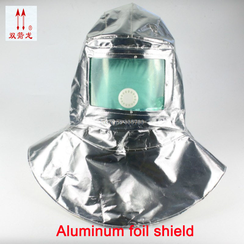 high quality fire Hood High temperature 200 degrees casco de seguridad Aluminum foil Explosion protection fireproofing mask free shiping xhzlc60 fire escape smoking chemical protection mask